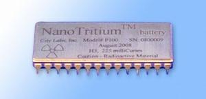 Nano-bateria de tritio